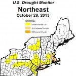 New England has been 'abnormally dry' since September. At the end of October, eastern Massachusetts is officially in a drought.