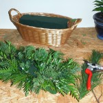 You can make holiday arrangements using the greens from your yard. It's easy!
